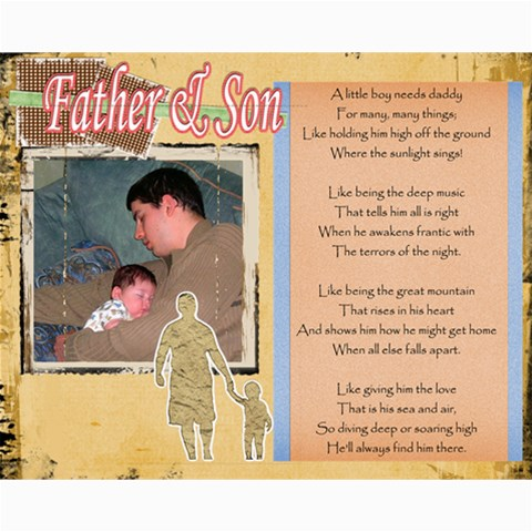 Father s Day Collage By Crystal Rawl   Collage 8  X 10    U8as9pgnp76b   Www Artscow Com 10 x8 Print - 1