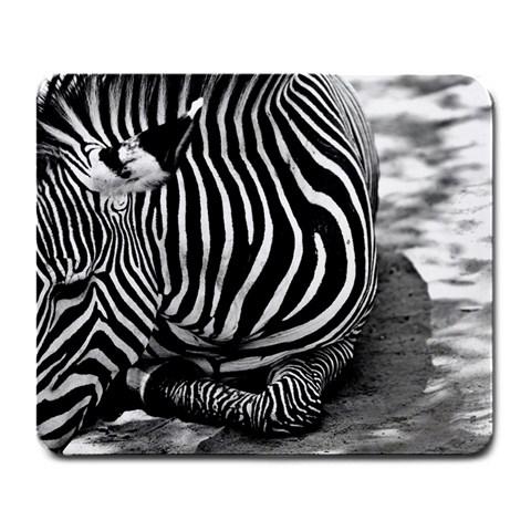 Zebra Mousepad By Julie Talbot   Large Mousepad   Lzftidlpz3zj   Www Artscow Com Front