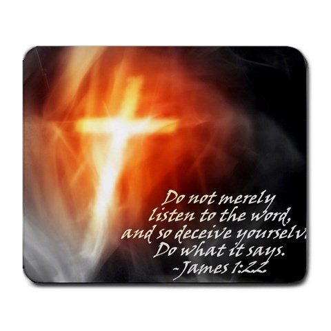 James 1:22 By Justin Erickson   Large Mousepad   Tcpa3h5mkecp   Www Artscow Com Front