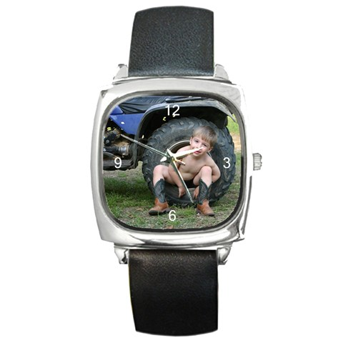 Father s Day By Elizabeth Condarco   Square Metal Watch   O40bxsh7qb9d   Www Artscow Com Front