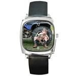 FATHER S DAY - Square Metal Watch