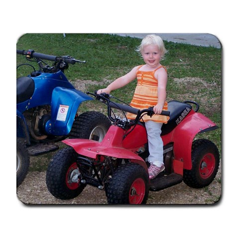 4 Wheelin  Fun By Ginger Sannes   Large Mousepad   Bhdyn9d6xith   Www Artscow Com Front