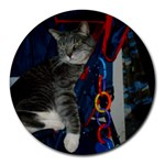 Eddie cat mousepad - Round Mousepad