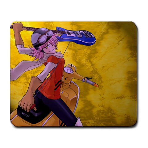 Haruko On Her Vespa By Anthony Zamora   Large Mousepad   3tmuif6ln598   Www Artscow Com Front