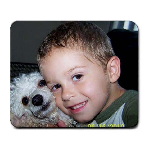 Bubba N Pookie By Angela Cottles   Collage Mousepad   T2e6onjm0t1a   Www Artscow Com 9.25 x7.75 Mousepad - 1