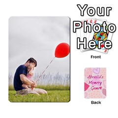 Memory Cards By Christina   Playing Cards 54 Designs   Sn9xkcxn394t   Www Artscow Com Front - Heart6