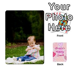 Memory Cards By Christina   Playing Cards 54 Designs   Sn9xkcxn394t   Www Artscow Com Front - Heart8