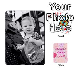Memory Cards By Christina   Playing Cards 54 Designs   Sn9xkcxn394t   Www Artscow Com Front - Club7