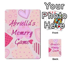 Memory Cards By Christina   Playing Cards 54 Designs   Sn9xkcxn394t   Www Artscow Com Back