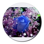 Blue Rose - Round Mousepad