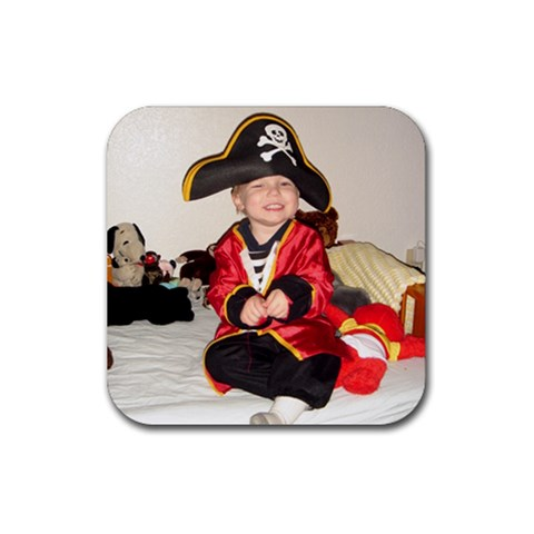 Pirate Play By Susannah Osborne   Rubber Coaster (square)   Dg466kk9kt70   Www Artscow Com Front