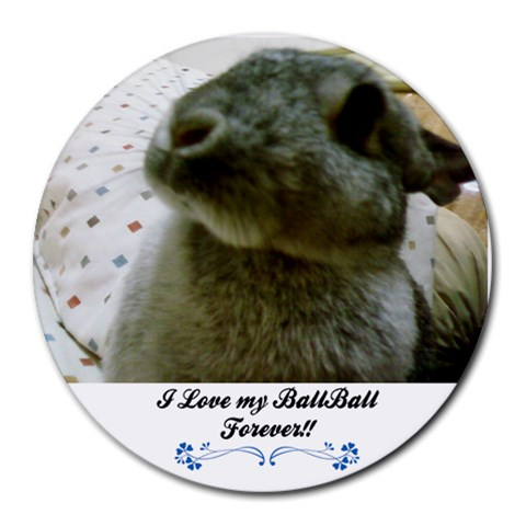 Ballball By Kymwei Huang   Collage Round Mousepad   Zm013n30lvtc   Www Artscow Com 8 x8 Round Mousepad - 1