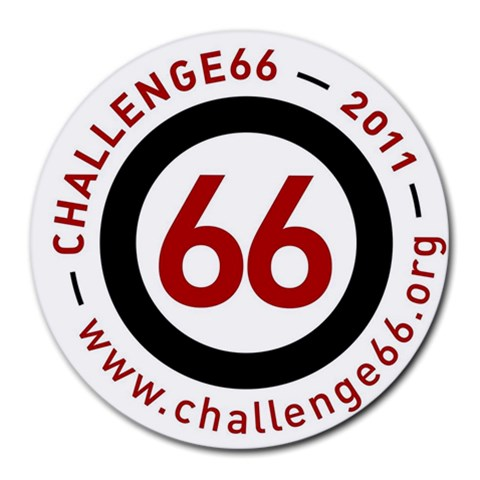 Challenge66 Charity Mousepad Www Challenge66 Org By Catvinnat   Round Mousepad   Tsv7ao04wui0   Www Artscow Com Front