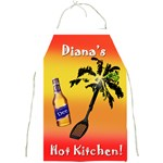 D Apron Hot in Kitchen - Full Print Apron