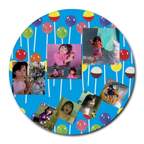 Jia By Gie Liang   Collage Round Mousepad   Bch06gtchh0h   Www Artscow Com 8 x8 Round Mousepad - 1