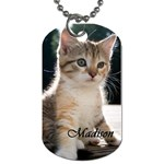 Madison Kitten Fleurdelis - Dog Tag (Two Sides)