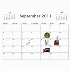 Calendar By Vanessa   Wall Calendar 11  X 8 5  (12 Months)   Wr88wp81yge2   Www Artscow Com Sep 2011