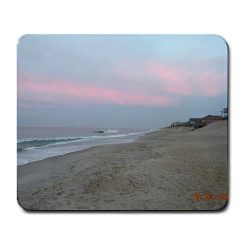 Kitty Hawk Beach At Sunset By Morgan Sharpe Bouldin   Large Mousepad   7znl5n5h9ucr   Www Artscow Com Front