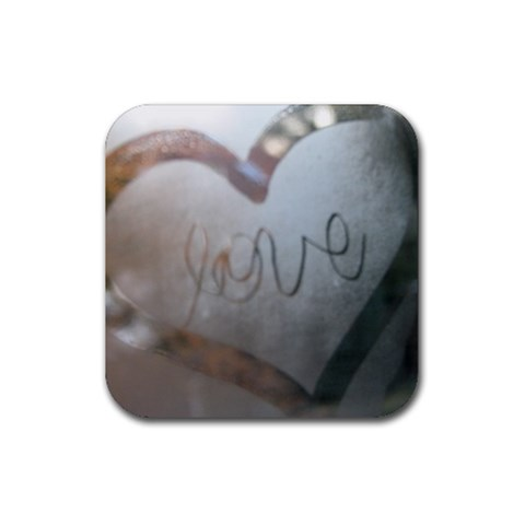 Love Coaster, Lindsey Drew On Window In Germany By Diana Davis   Rubber Coaster (square)   Equq7yda11lp   Www Artscow Com Front