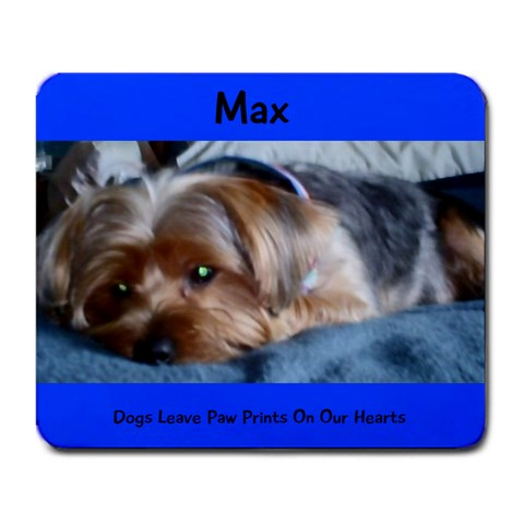 Max By Kimberly Stuckman Lewis   Large Mousepad   Fzxkl78mh4eg   Www Artscow Com Front