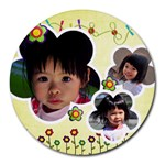 mouse - Collage Round Mousepad