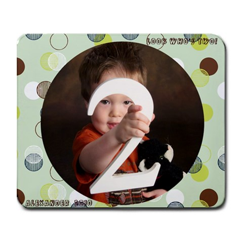 Alex Is 2 By Desiree Jang   Collage Mousepad   Nr3dkytrlapy   Www Artscow Com 9.25 x7.75 Mousepad - 1