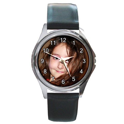 Watch By Veronica Hoskins   Round Metal Watch   Faxzdnhta50z   Www Artscow Com Front