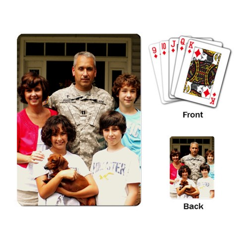 Cool Playing Cards For 1 99 By Terrie West Poore   Playing Cards Single Design   Srb6gyij9kmf   Www Artscow Com Back