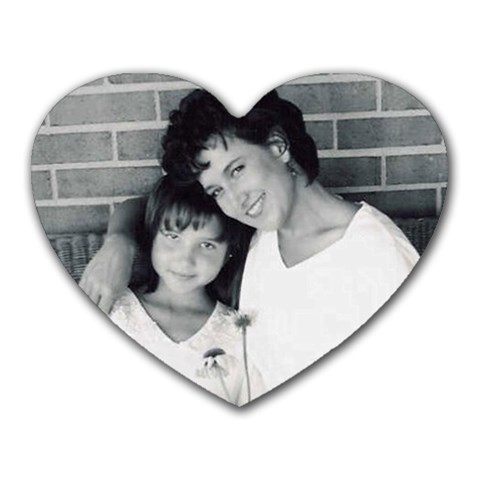 Mother And Daughter By Diane    Heart Mousepad   Yf2lvksgasiw   Www Artscow Com Front
