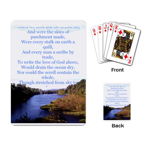 The Love Of God Playing Cards By Beth Mcdowell Richardson   Playing Cards Single Design   650gt3452b8z   Www Artscow Com Back