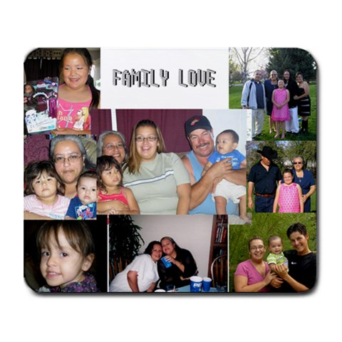 Family Love By Lavette Cruz   Collage Mousepad   7qksoq2y06na   Www Artscow Com 9.25 x7.75 Mousepad - 1