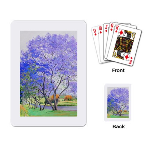 Jacaranda Tree Cards By Janet   Playing Cards Single Design   Hnkilmoiggaq   Www Artscow Com Back