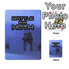 Battle For Hoth By Simon   Multi Purpose Cards (rectangle)   6hj7o6uztcfk   Www Artscow Com Back 50