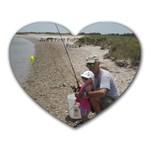 Ava s fishing trip - Heart Mousepad