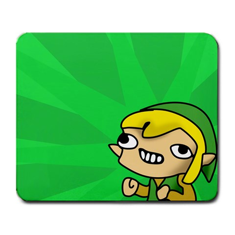 Autistic Link By Facundo Salinas   Large Mousepad   Rgpcgod1l0rw   Www Artscow Com Front