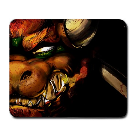 Bowser By Bob Delarosa   Large Mousepad   Sftw5ncr9lc7   Www Artscow Com Front