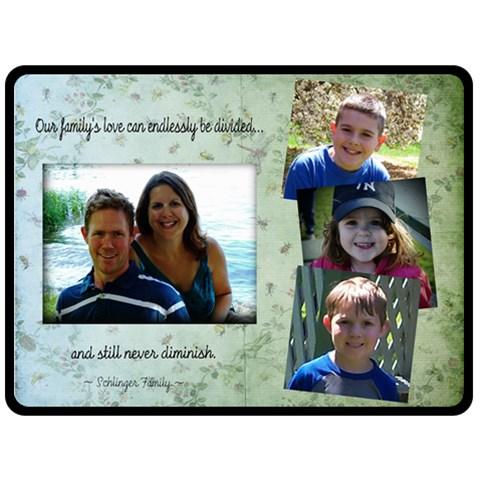 Family Blanket  By Sara Sschlinger   Fleece Blanket (large)   6ayxi0e0m1eo   Www Artscow Com 80 x60 Blanket Front