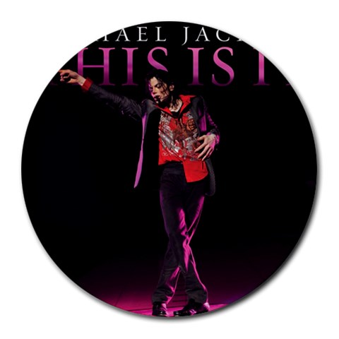 Michael Jackson  This Is It!! By Burlah Tee Toe   Round Mousepad   3b1gcnnhun18   Www Artscow Com Front