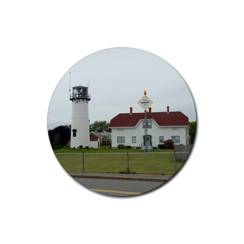 Chatham Light By Bethnoel   Rubber Coaster (round)   1y2rss1yzrts   Www Artscow Com Front