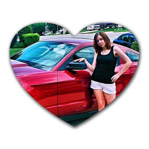 Me And The Mustang By Katrina Schmelter   Heart Mousepad   Fswhivhwzrve   Www Artscow Com Front