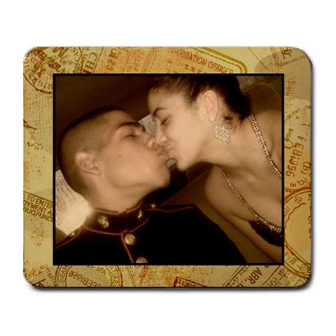 Old Fashion Kiss By Lisette Negron   Collage Mousepad   9tbxk519g2pb   Www Artscow Com 9.25 x7.75 Mousepad - 1