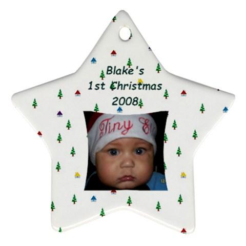 Blake1stxmas By Plainejane75 Hotmail Com   Ornament (star)   Ltj5nnasy4pn   Www Artscow Com Front
