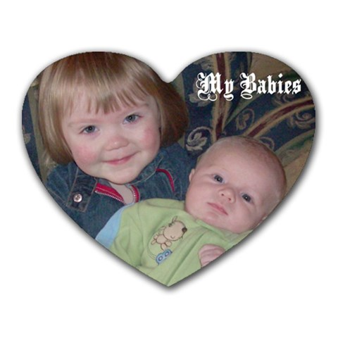 Kids By Stacey Groff   Heart Mousepad   R7tffprta603   Www Artscow Com Front
