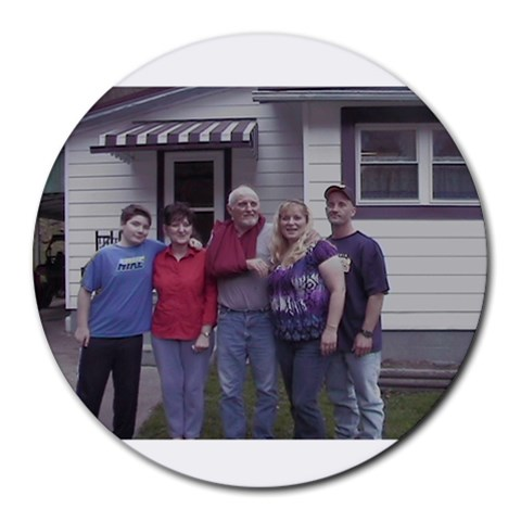 Family By Cristy Atwell   Round Mousepad   Hsmra2bbpncq   Www Artscow Com Front
