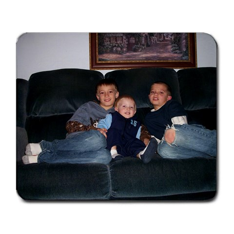 Grandma s  3 Little Men  By Pamela Burmania   Large Mousepad   Myrtted7moix   Www Artscow Com Front