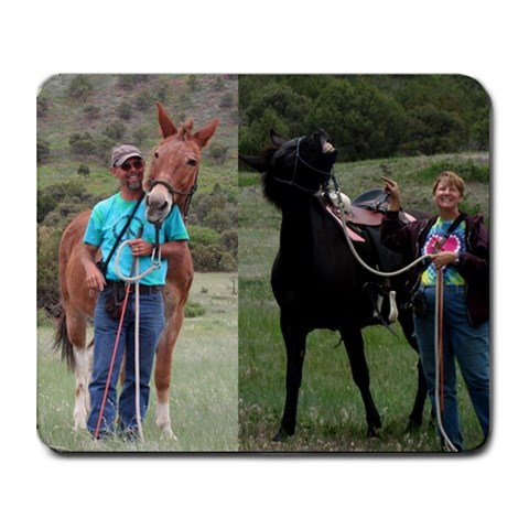 Mule Mousepad By Christina Blue   Collage Mousepad   9onuftma2gnc   Www Artscow Com 9.25 x7.75 Mousepad - 1