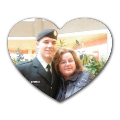 My Army Man & Me By Rachel Thorley   Heart Mousepad   Eakw0gmlaeim   Www Artscow Com Front
