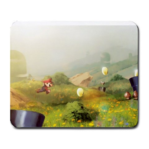 Mario By Hauia   Large Mousepad   92hdxtq3cikg   Www Artscow Com Front