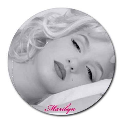Marilyn Mousepad By Renee Rentfro   Collage Round Mousepad   M8iovty6w8ts   Www Artscow Com 8 x8 Round Mousepad - 1