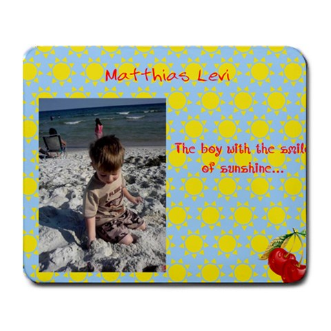 Matthias1 By Jennifer K  Peppers   Collage Mousepad   Fr0ogf8fhwzb   Www Artscow Com 9.25 x7.75 Mousepad - 1
